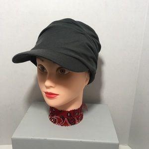 Delux Boho Cabbie Hat Grey Women's Small